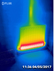 We also check for underperforming heating systems as shown in this house in York