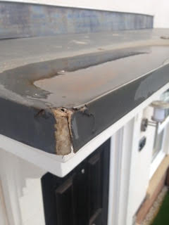 Snagging Company in Northwich raise damaged porch