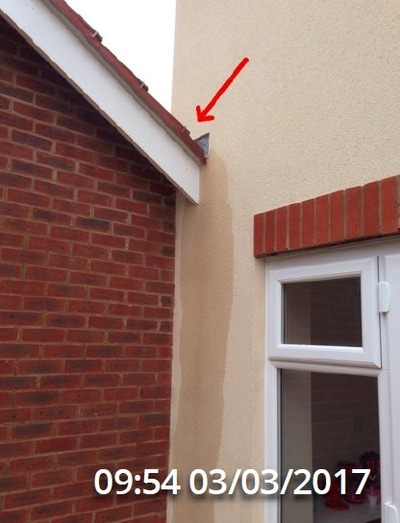 We also highlight flaws with poor design as shown here where a gutter is required